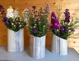 (V3) Trio of Brancaster vases