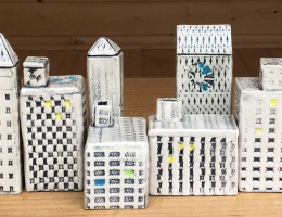 """Urban buildings, """" make your own skyline"""" sizes vary between 4 to 8 cm high x 2 to 4 cm wide"""