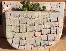 """Demi"" wall planter 21cm high x 26cm wide"