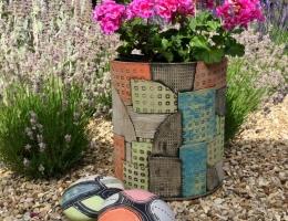 (GS11) large ceramic garden planter