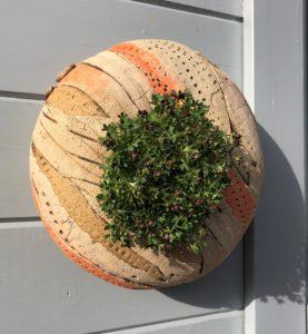SGV11 -round pod - orange landscape -28cms diameter