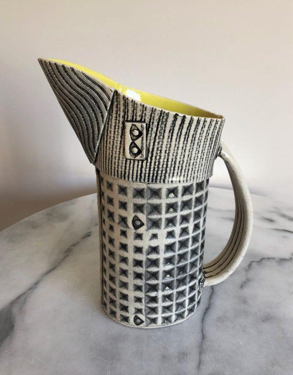 SMH23 - Large Jug - Diamond - Yellow interior - 33 cms tall