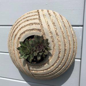 SGV19 - round pod - Grey Zen garden - 28cms diameter -£80